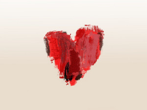 paintbrush heart