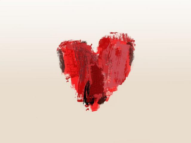valentine reflection heart