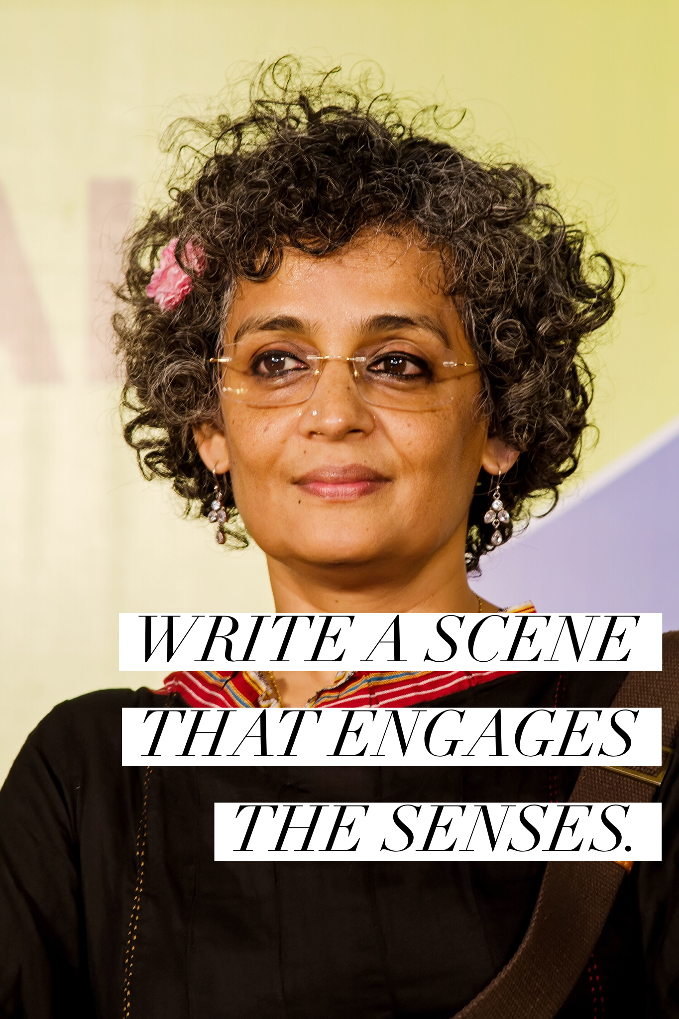 write a scene that engages the senses