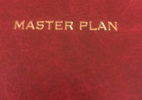 journal that says MASTER PLAN
